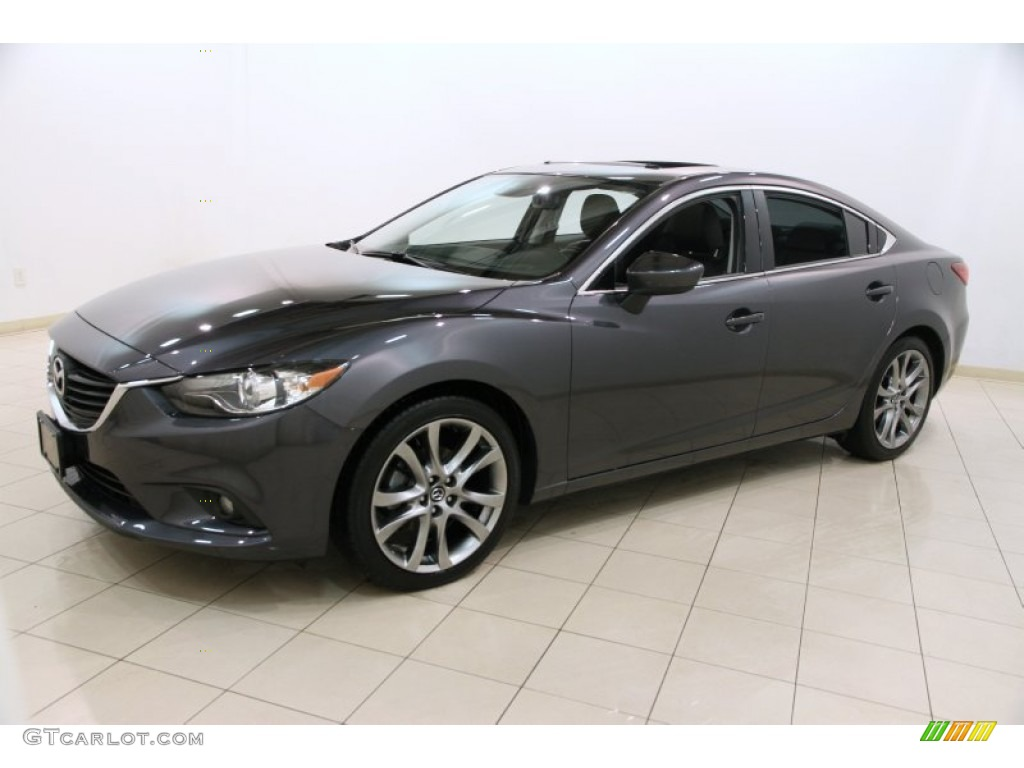 2014 meteor gray mica mazda mazda6 grand touring 90960815 photo 3 car color. Black Bedroom Furniture Sets. Home Design Ideas
