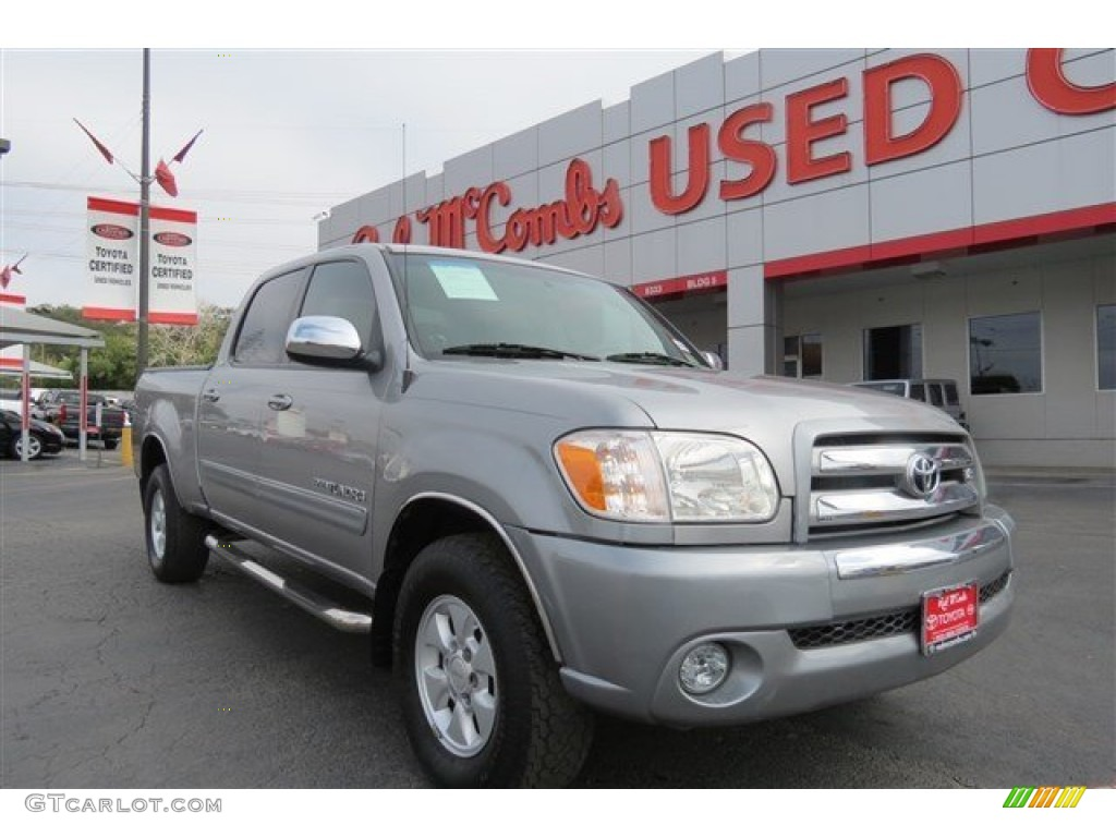 2005 Tundra SR5 Double Cab - Silver Sky Metallic / Light Charcoal photo #1