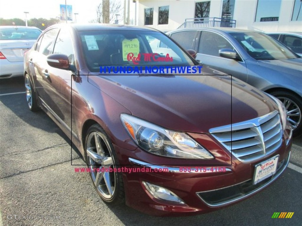 2013 cabernet red pearl hyundai genesis 5 0 r spec sedan. Black Bedroom Furniture Sets. Home Design Ideas