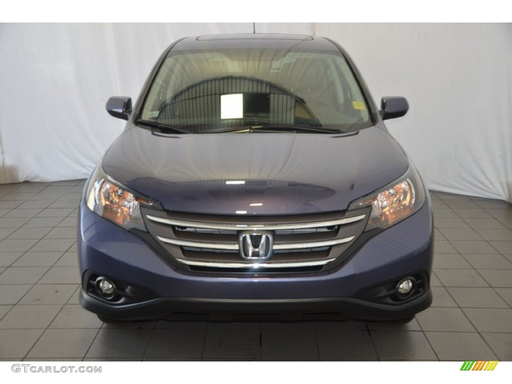 2013 CR-V EX - Twilight Blue Metallic / Gray photo #2