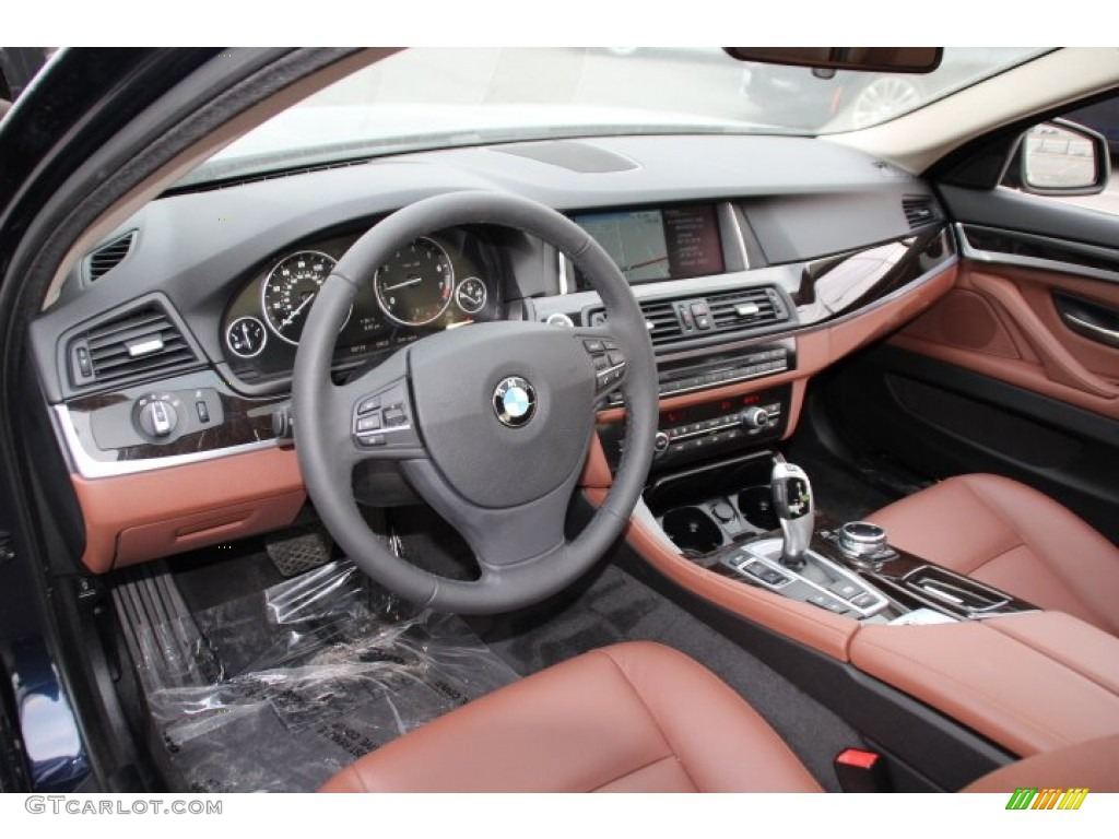 Cinnamon Brown Interior 2014 Bmw 5 Series 528i Xdrive Sedan Photo 91105946