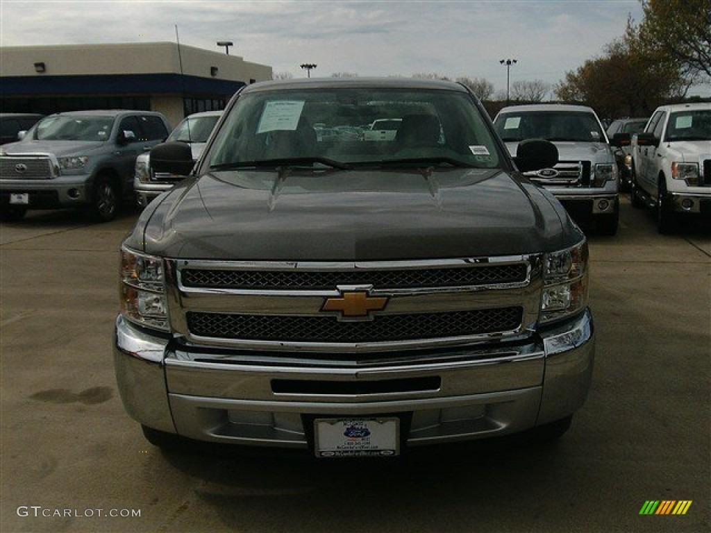 2012 Silverado 1500 Work Truck Extended Cab - Silver Ice Metallic / Dark Titanium photo #1