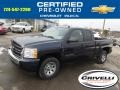2011 Imperial Blue Metallic Chevrolet Silverado 1500 LS Extended Cab 4x4  photo #1