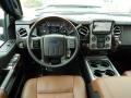 2014 Ford F250 Super Duty Platinum Pecan Leather Interior Dashboard Photo