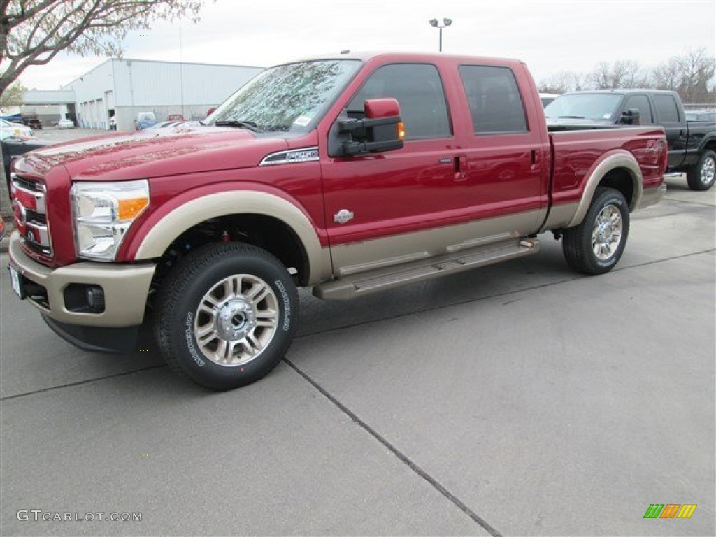 2014 f250 super duty king ranch crew cab 4x4 ruby red metallic king ranch