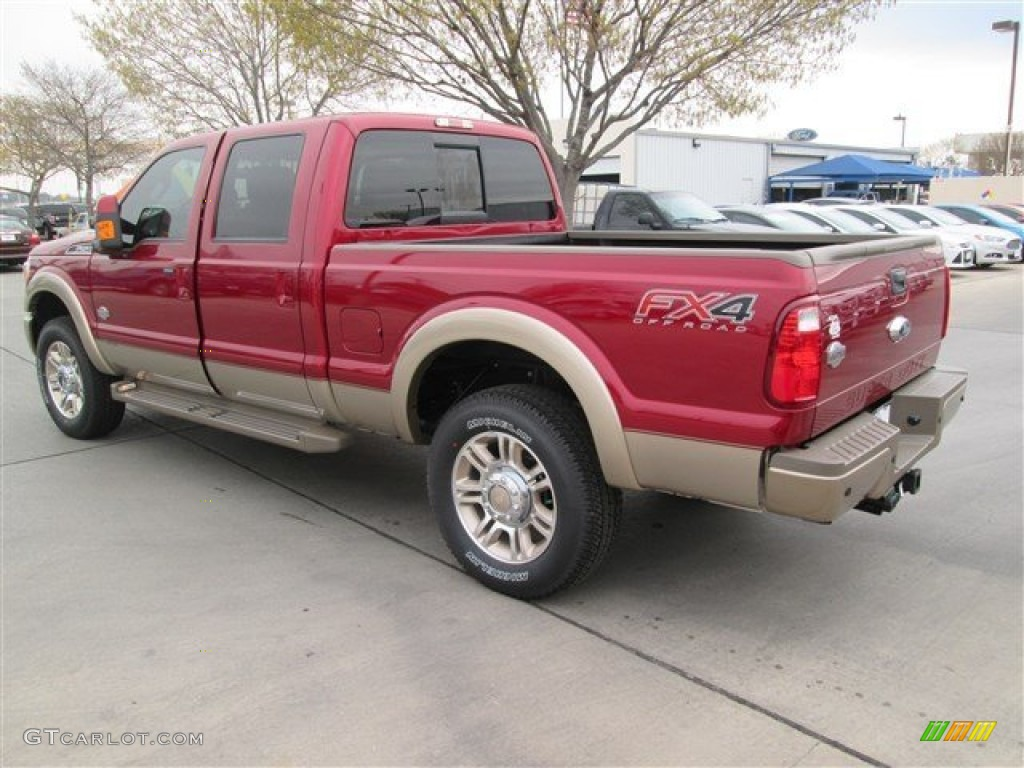 2014 Ruby Red Metallic Ford F250 Super Duty King Ranch Crew Cab 4x4 91129243 Photo 4