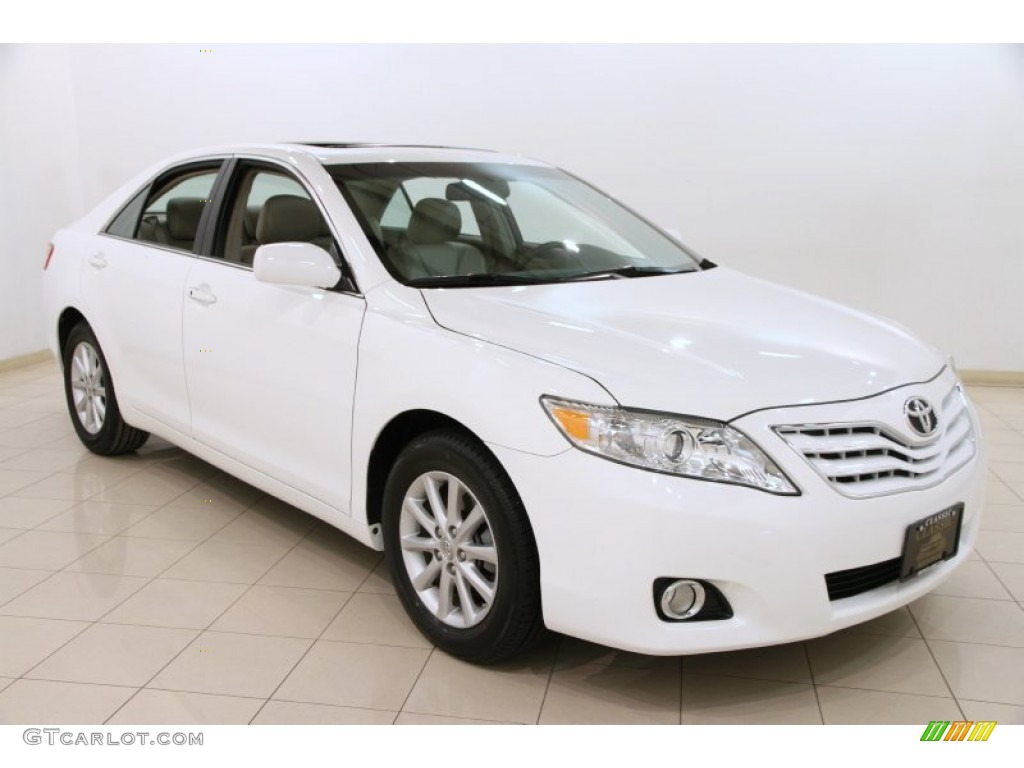 2011 super white toyota camry xle v6 91172307 gtcarlot. Black Bedroom Furniture Sets. Home Design Ideas