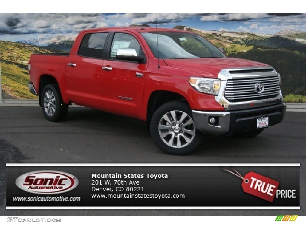 2014 Tundra Limited Crewmax 4x4 - Radiant Red / Black photo #1