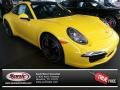 Racing Yellow 2014 Porsche 911 Carrera S Coupe