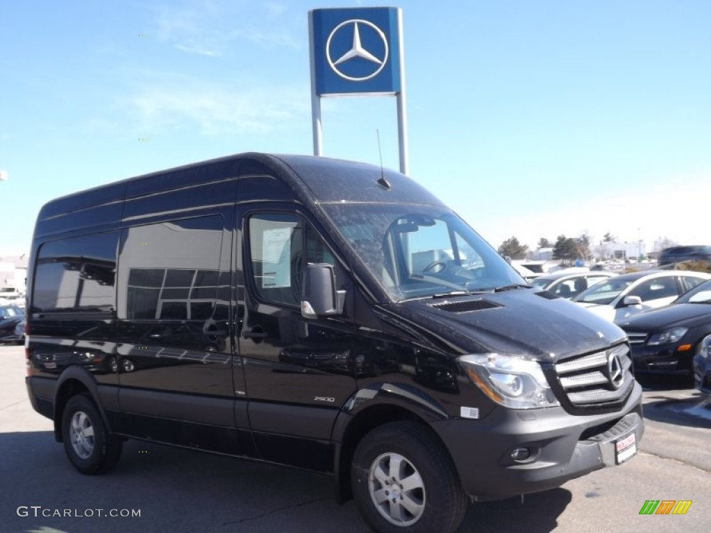 2014 jet black mercedes benz sprinter 2500 high roof crew for 2015 mercedes benz 2500 high roof