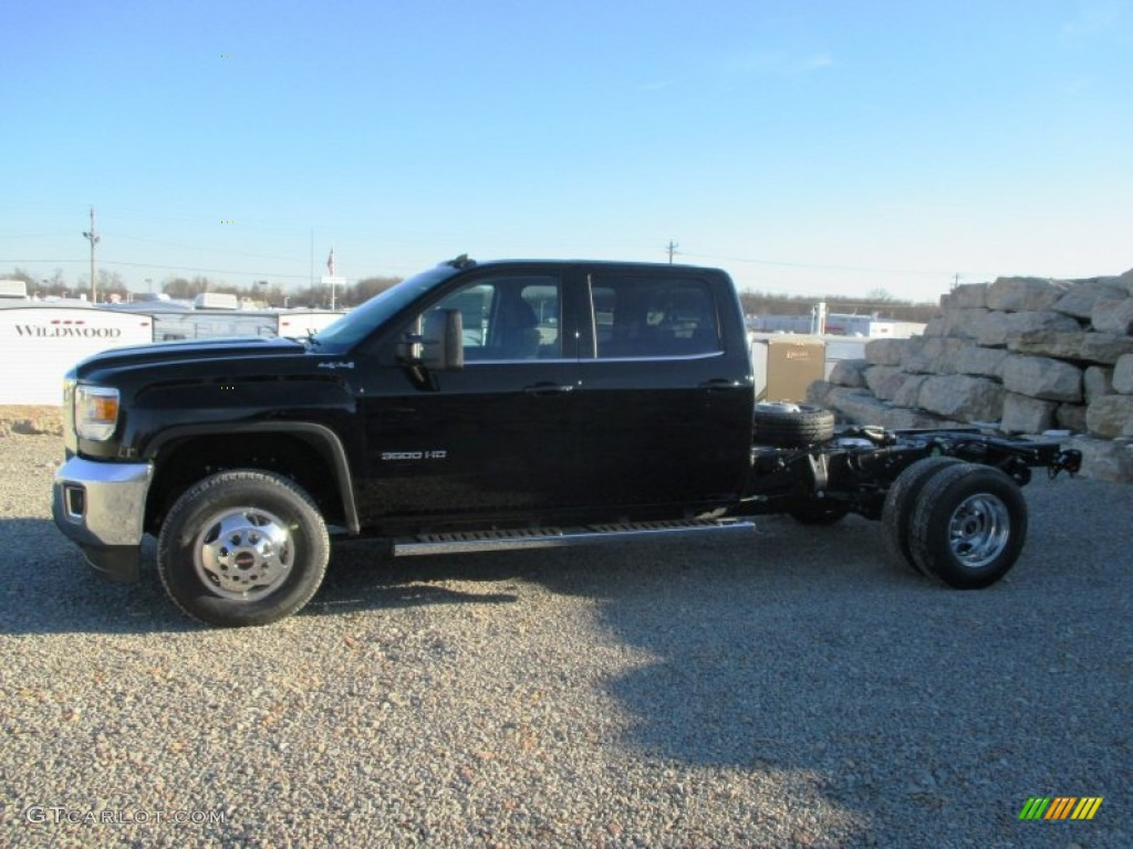 onyx black 2015 gmc sierra 3500hd sle crew cab 4x4 dual. Black Bedroom Furniture Sets. Home Design Ideas