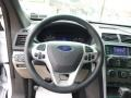 2014 Ford Explorer Medium Light Stone Interior Steering Wheel Photo