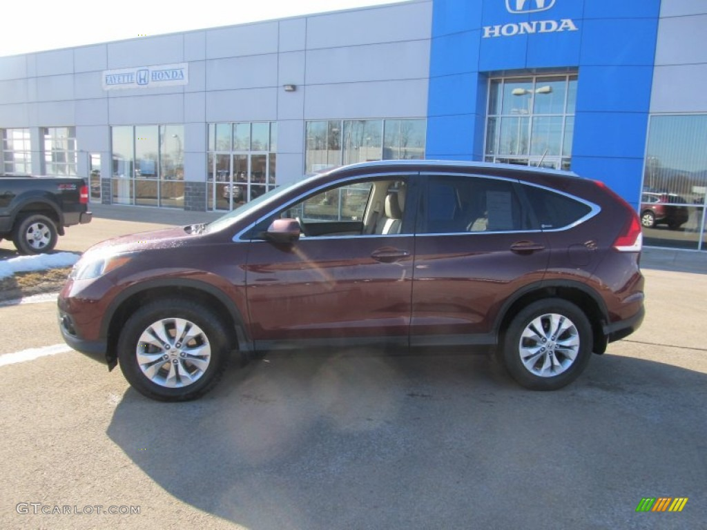2012 CR-V EX-L 4WD - Basque Red Pearl II / Beige photo #2