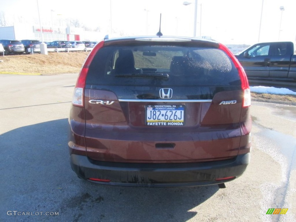 2012 CR-V EX-L 4WD - Basque Red Pearl II / Beige photo #3