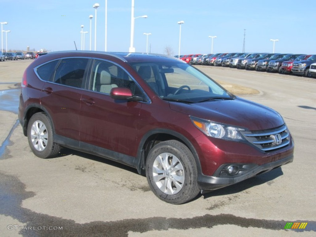 2012 CR-V EX-L 4WD - Basque Red Pearl II / Beige photo #5