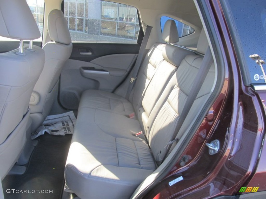 2012 CR-V EX-L 4WD - Basque Red Pearl II / Beige photo #8