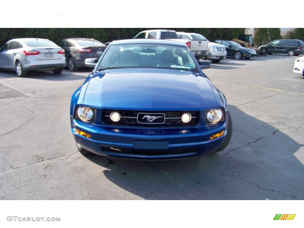 2007 Mustang V6 Premium Coupe - Vista Blue Metallic / Light Graphite photo #2