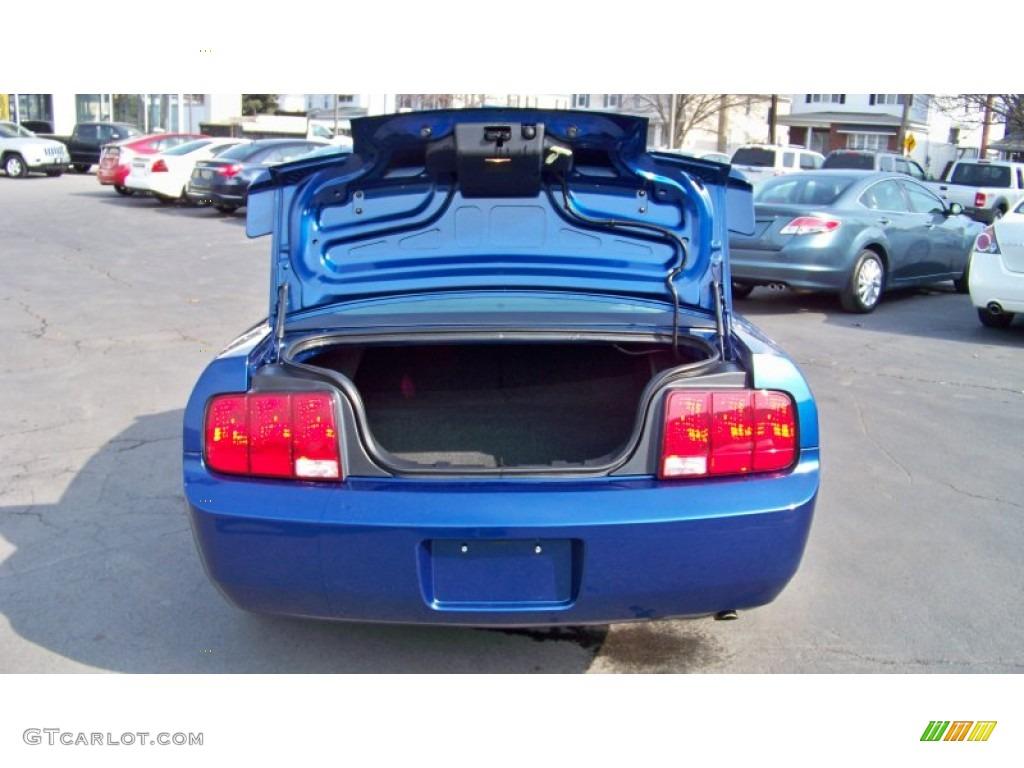 2007 Mustang V6 Premium Coupe - Vista Blue Metallic / Light Graphite photo #15