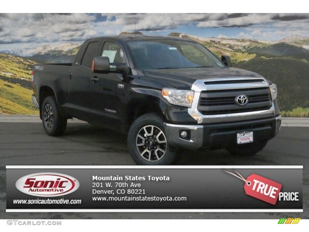2014 Tundra SR5 TRD Double Cab 4x4 - Black / Sand Beige photo #1