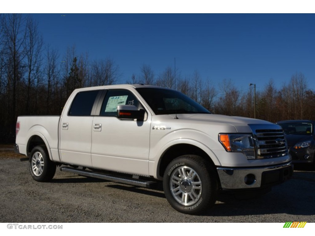 2014 F150 Lariat SuperCrew - White Platinum / Pale Adobe photo #1