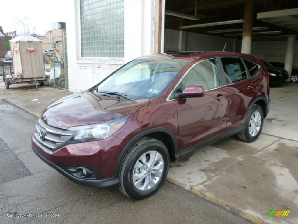 2014 CR-V EX AWD - Basque Red Pearl II / Gray photo #1