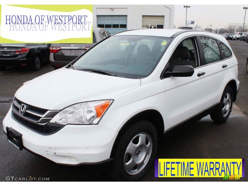 2011 CR-V LX 4WD - Taffeta White / Gray photo #1