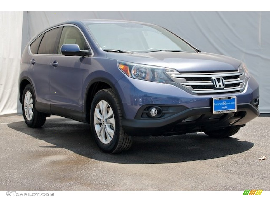 2014 CR-V EX - Twilight Blue Metallic / Gray photo #1