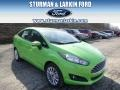 2014 Green Envy Ford Fiesta SE Sedan #91449136