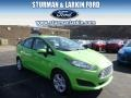 2014 Green Envy Ford Fiesta SE Sedan #91449135