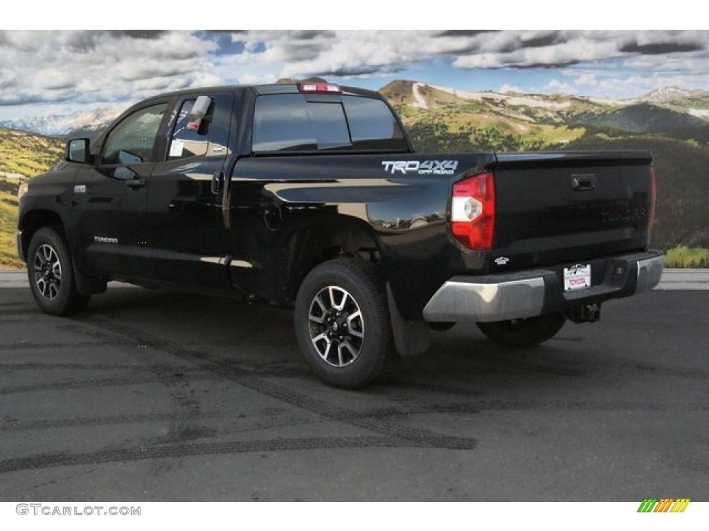 2014 Tundra SR5 TRD Double Cab 4x4 - Black / Black photo #3