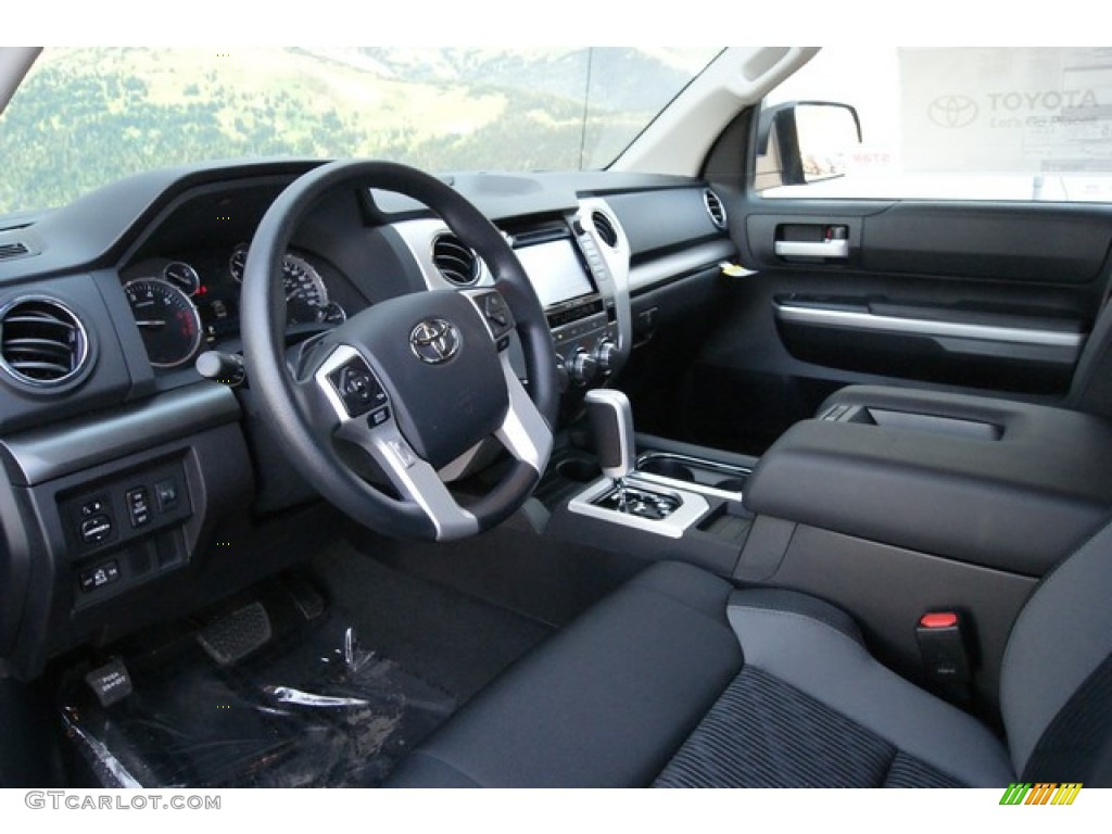 2014 Tundra SR5 TRD Double Cab 4x4 - Black / Black photo #5