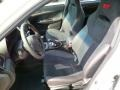 2014 Subaru Impreza STI Black Alcantara/ Carbon Black Leather Interior Front Seat Photo
