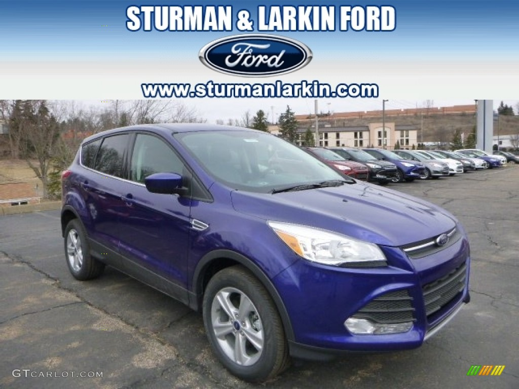 2014 Escape SE 1.6L EcoBoost 4WD - Deep Impact Blue / Charcoal Black photo #1