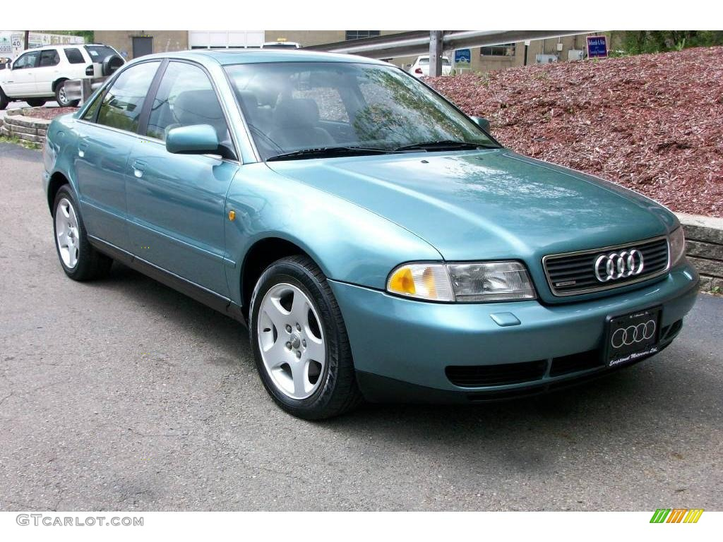 1999 jaspis green metallic audi a4 2 8 quattro sedan. Black Bedroom Furniture Sets. Home Design Ideas