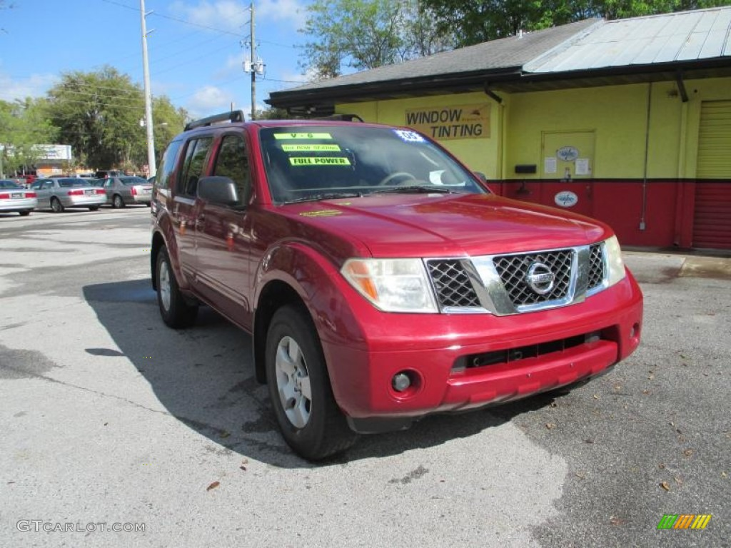 2005 red brawn pearl nissan pathfinder xe 91559087. Black Bedroom Furniture Sets. Home Design Ideas