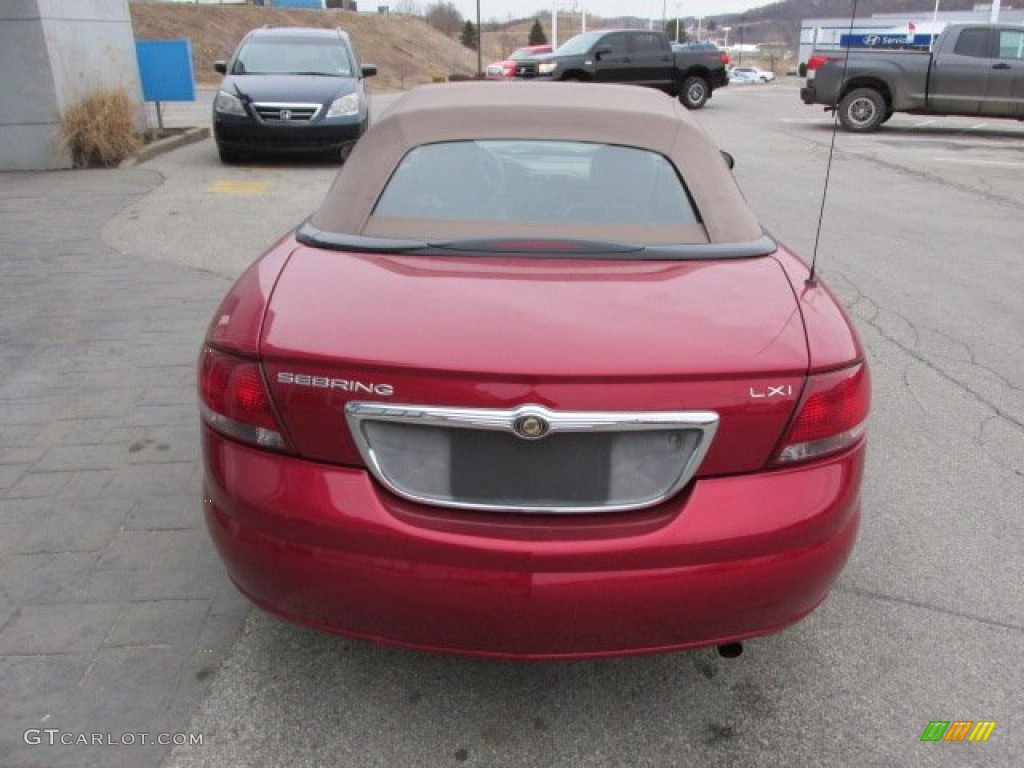 2003 Sebring LXi Convertible - Deep Lava Red Metallic / Taupe photo #10