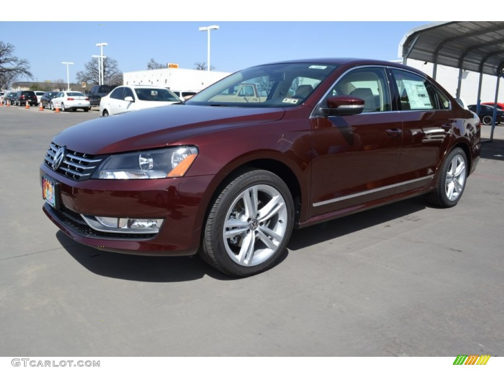2014 Passat TDI SEL Premium - Opera Red Metallic / Cornsilk Beige photo #1