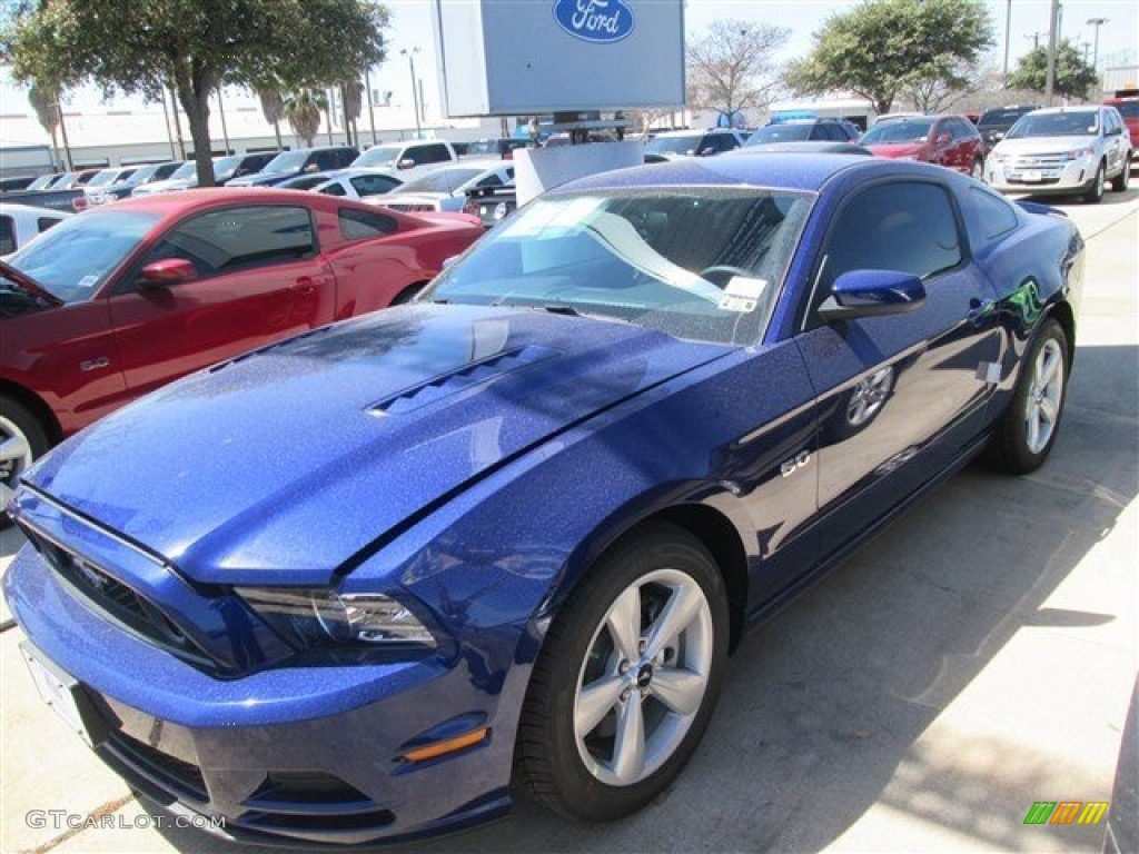 2014 deep impact blue ford mustang gt coupe 91598686. Black Bedroom Furniture Sets. Home Design Ideas