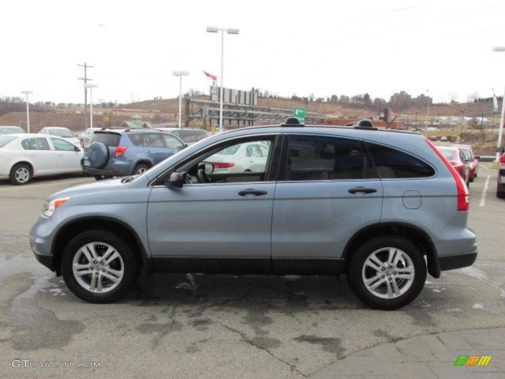2011 CR-V EX 4WD - Glacier Blue Metallic / Gray photo #7