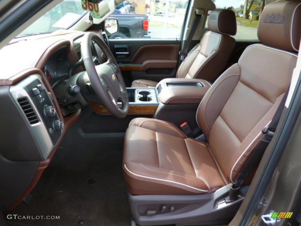 High Country Saddle Interior 2014 Chevrolet Silverado 1500 High Country Crew Cab 4x4 Photo