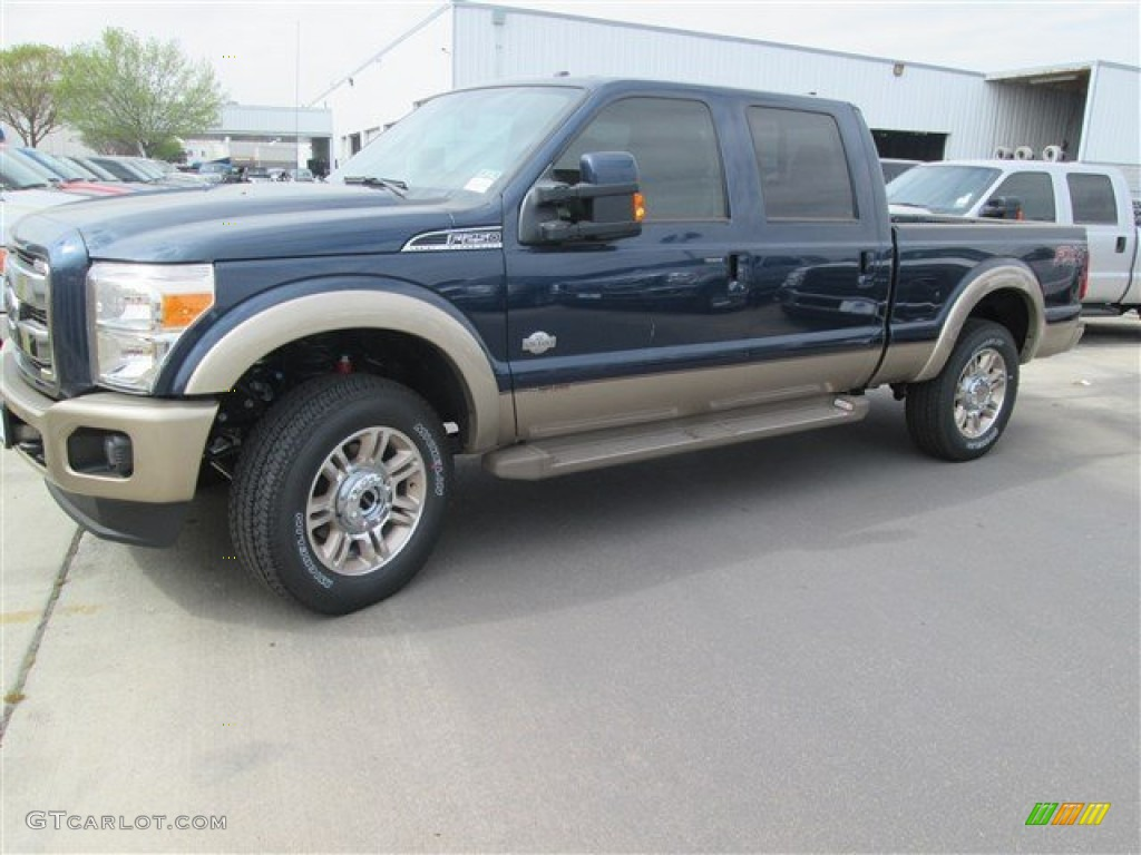 2014 blue jeans metallic ford f250 super duty king ranch. Black Bedroom Furniture Sets. Home Design Ideas