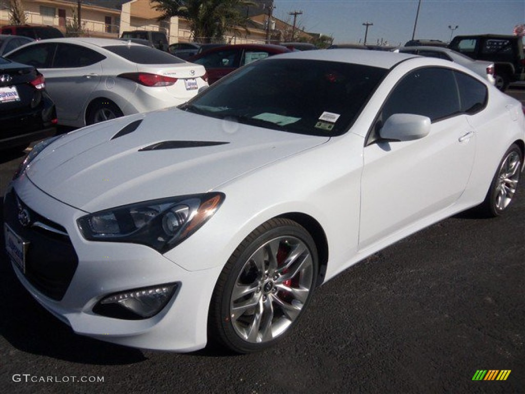 2014 casablanca white hyundai genesis coupe 2 0t r spec. Black Bedroom Furniture Sets. Home Design Ideas