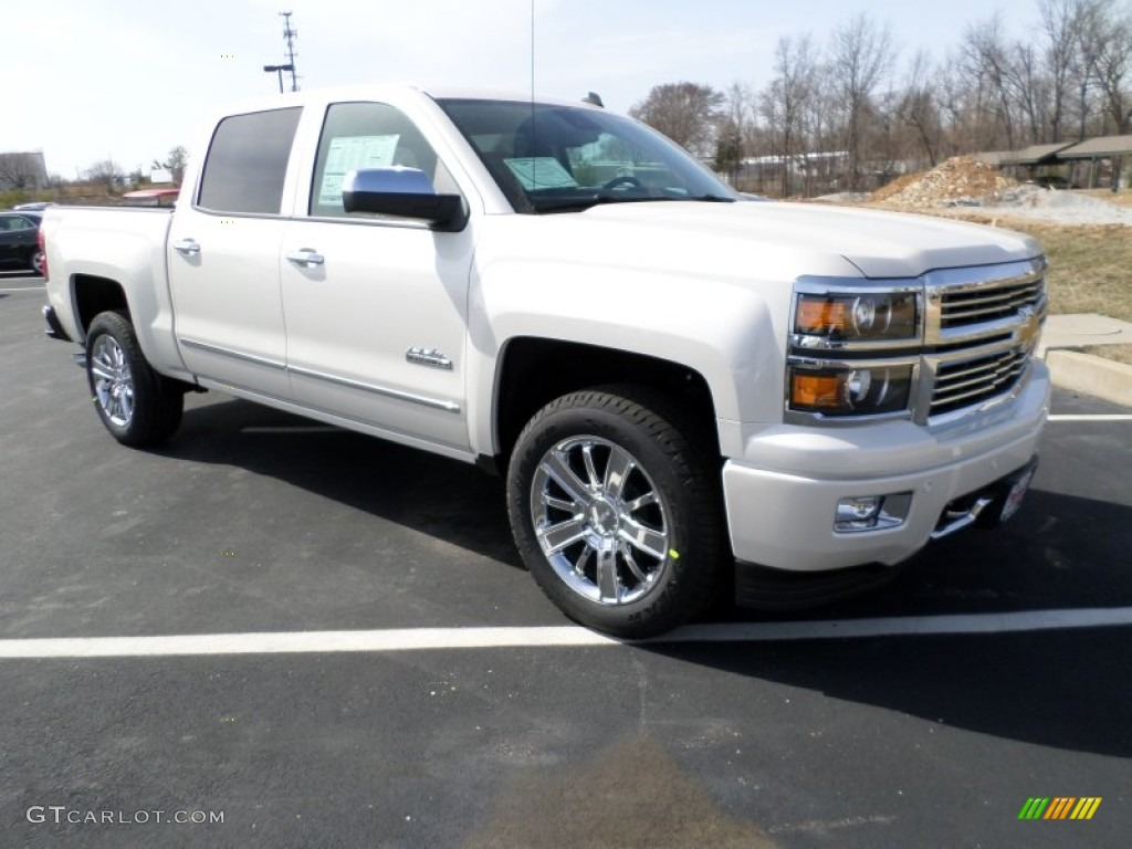 2014 white diamond tricoat chevrolet silverado 1500 high country crew cab 4x4 91703951. Black Bedroom Furniture Sets. Home Design Ideas