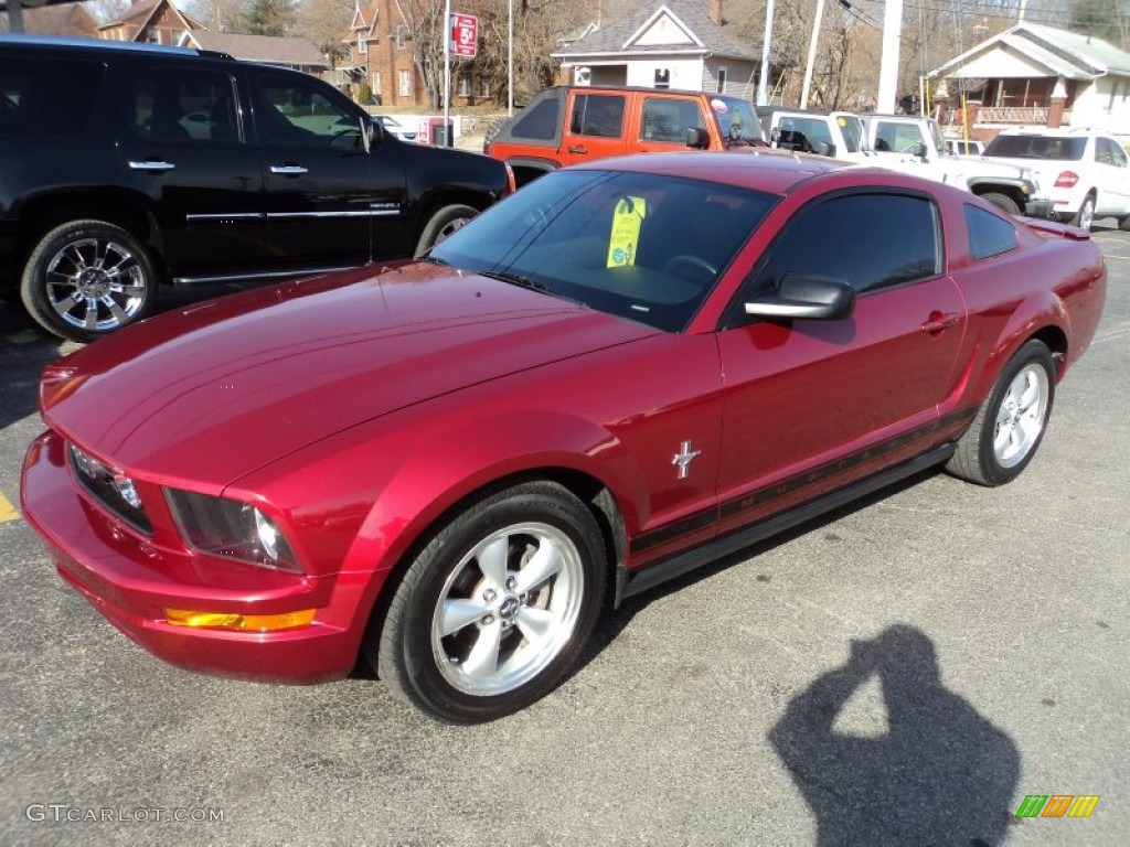 2007 Mustang V6 Premium Coupe - Redfire Metallic / Black/Dove Accent photo #1