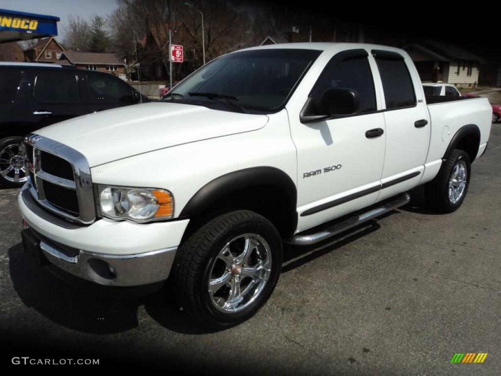 2002 Ram 1500 SLT Quad Cab 4x4 - Bright White / Dark Slate Gray photo #1