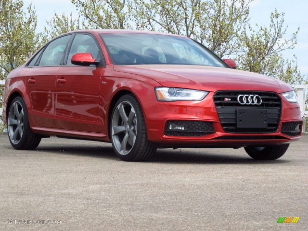 2014 S4 Prestige 3.0 TFSI quattro - Volcano Red Metallic / Black photo #1