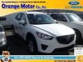 2013 Crystal White Pearl Mica Mazda CX-5 Sport AWD #91704225