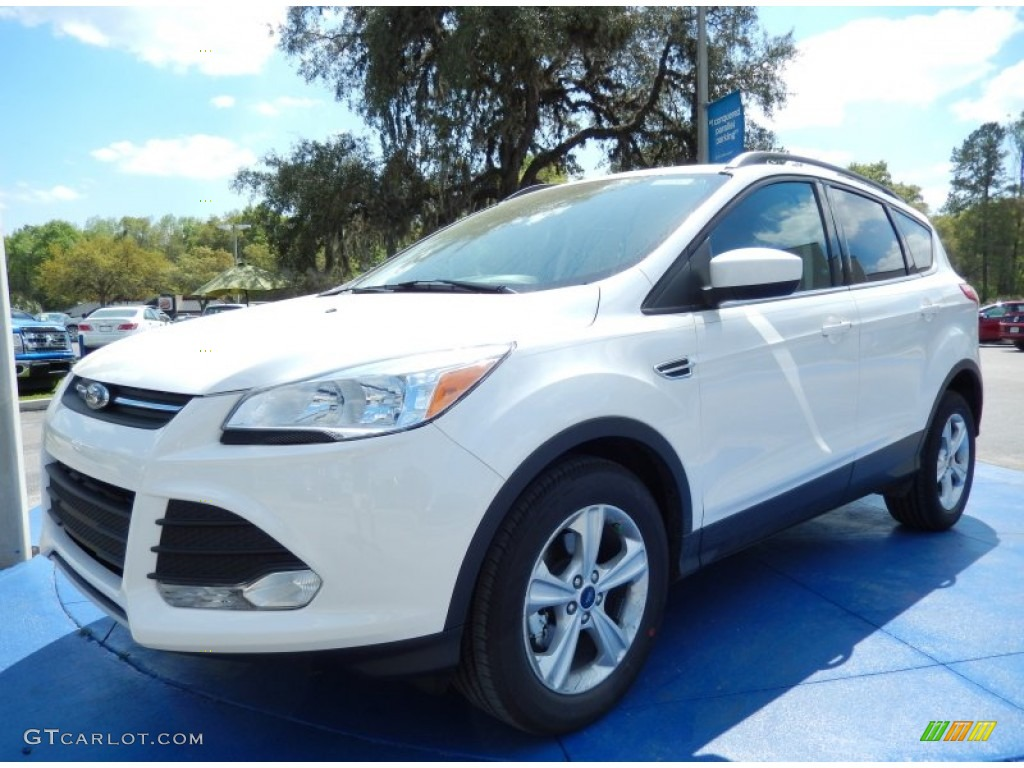 2014 Escape SE 1.6L EcoBoost - White Platinum / Medium Light Stone photo #1