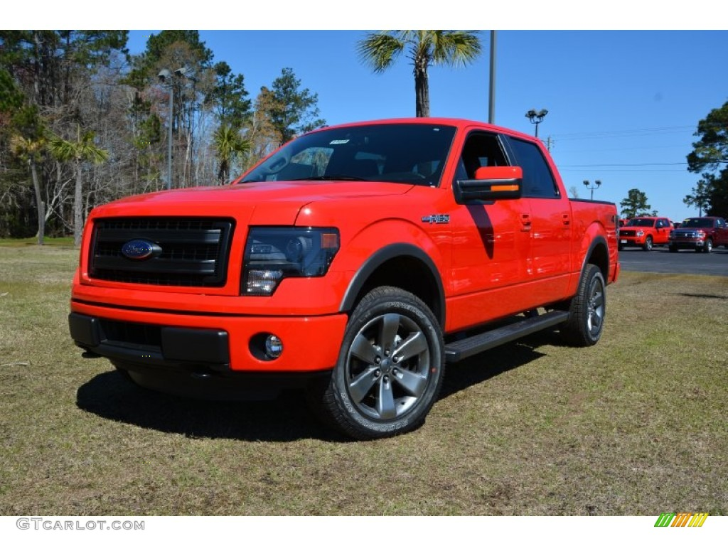2014 race red ford f150 fx4 supercrew 4x4 91754861 car color galleries. Black Bedroom Furniture Sets. Home Design Ideas