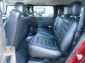 Rear Seat of 2005 H2 SUV